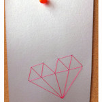 geometrisch hartje voor valentijnsdag