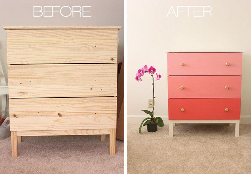 6 tips om je ikea meubels te pimpen. Black Bedroom Furniture Sets. Home Design Ideas