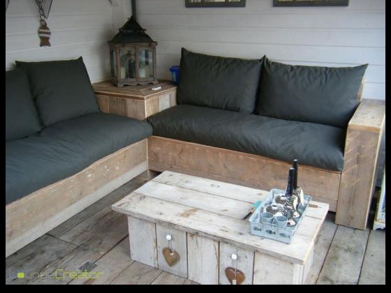 Loungeset maken met kussens op maat for Zelf loungeset maken