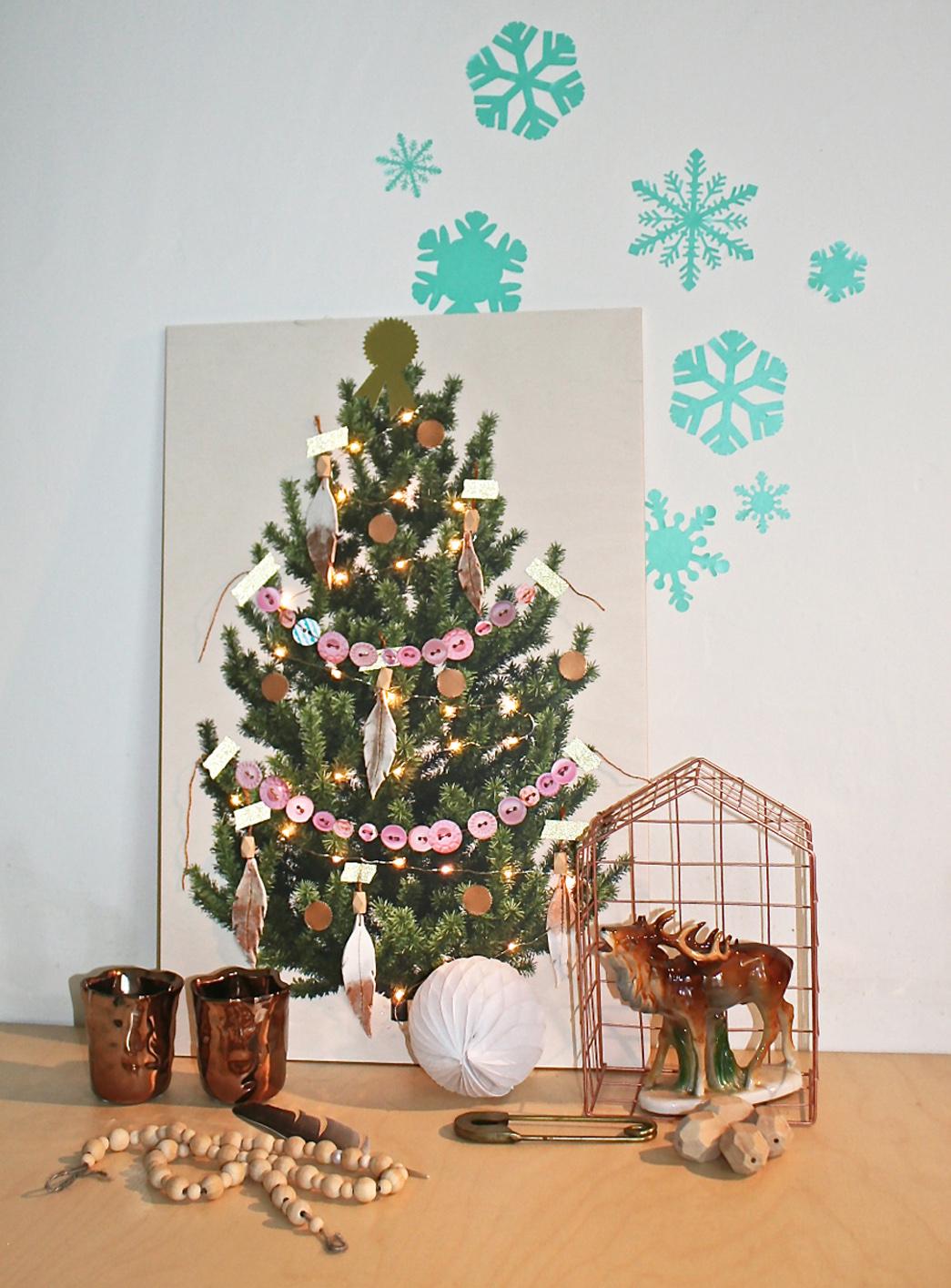 Het woonschrift een houten kerstboom om te versieren - Slaapkamer om te versieren ...